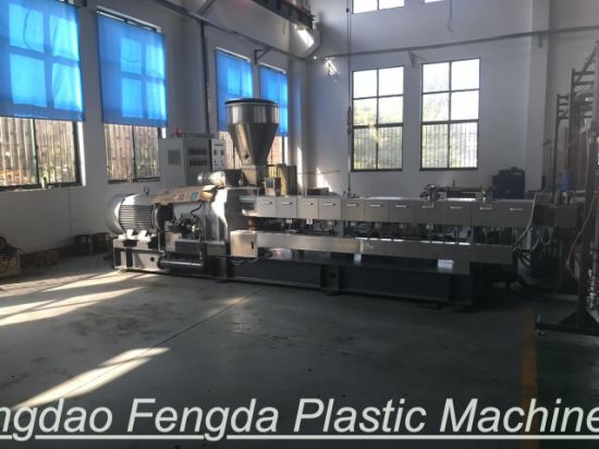 Co-Rotating Twin Screw Extruder Plastic Pellets Making Machinery