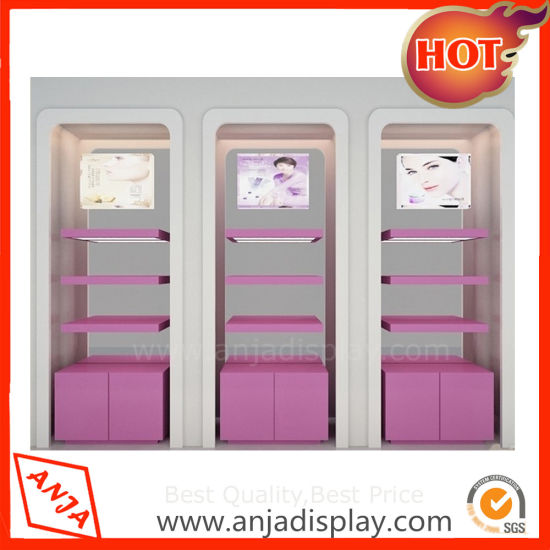 Wooden Portable Cosmetic Display Cabinets Unit For Shop