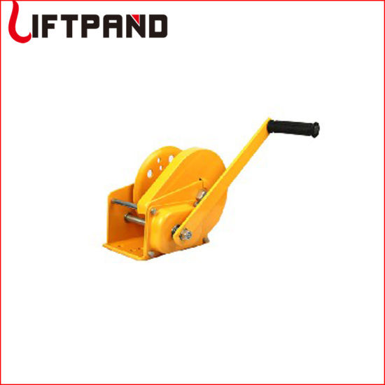 Car Geared Hand Winch with Brake System Boat Trailer Tool