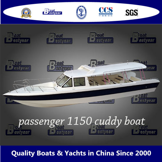 Bestyear 11.5m Fiberglass Passenger Cuddy Boat for 29 People pictures & photos