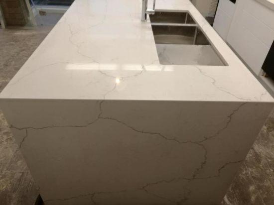 Super Cheap White Artificial Quartz Calacatta Marble Kitchen Island And Benchtop Machost Co Dining Chair Design Ideas Machostcouk