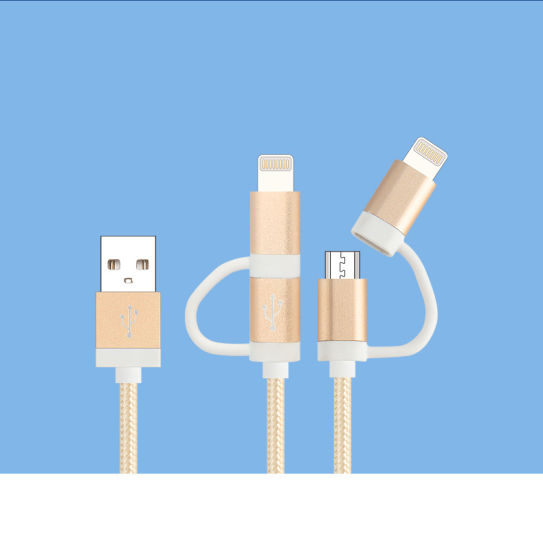 2in1 Data Charging Micro USB Cable for iPhone Android