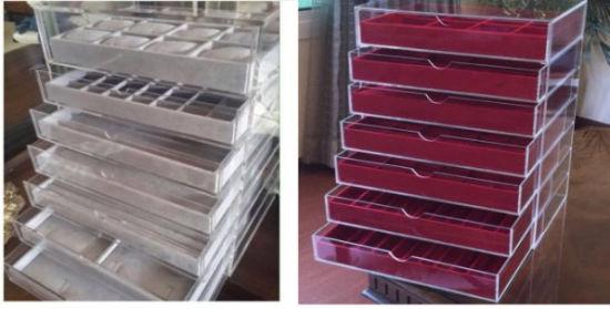China Custom Large Capacity Clear Acrylic Jewelry Organizer With Drawers China Acrylic Jewelry Organizer And Acrylic Jewelry Drawer Price