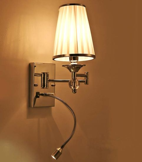 Fashion LED Reading Sconce Wall Lamp Light with Fabric Shade pictures & photos