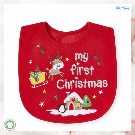 Red Baby Accessory Soft Organic Baby Infant Bibs