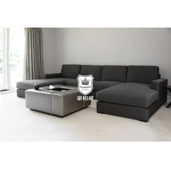 China Apartment Living Room Sectional U Shape 8 Seater Sofa Set