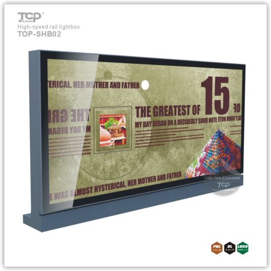 Stand Aluminum High-Speed Rail Way Station Light Box Billboard pictures & photos