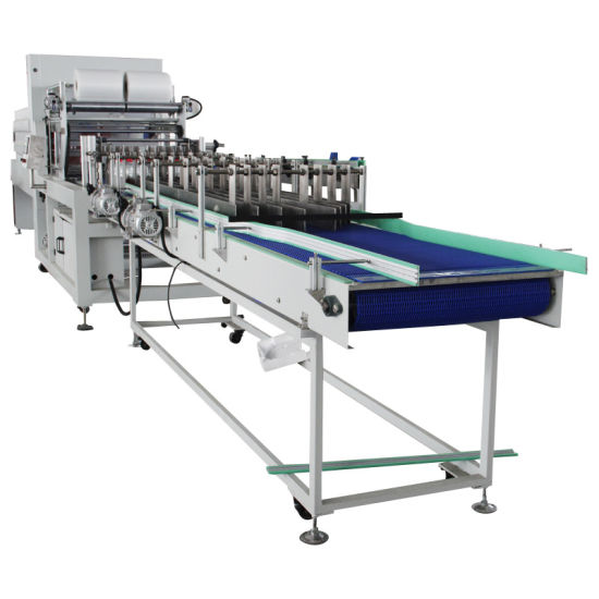 Automatic Linear Type Sleeve Sealing PE Film Shrink Wrapping Packing Machine pictures & photos