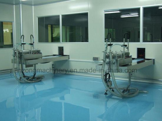 China Semi-Automatic Double Heads Liquid Filling Machine - China ...