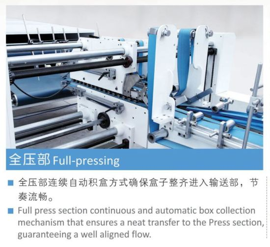 Automatic 4 6 Corner Folding Carton Box Gluing Machine (GK-1450SLJ) pictures & photos