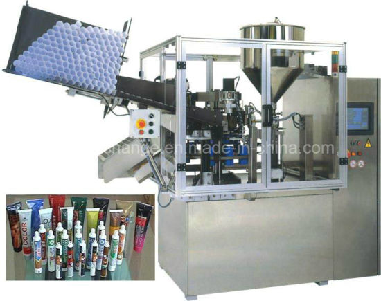 Fully Auto Plastic Cosmetic Hand Sanitizer Gel Tube Filling and Sealing Machine