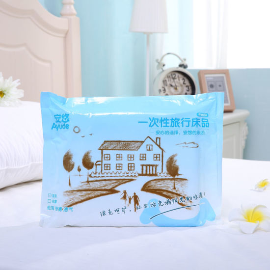 China Products High Quality Non-Woven Fabric Disposable Bed Linen for Hotel and Travel pictures & photos