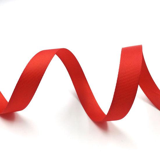 Pano Wholesale Hot Sell Sewing Hair Bows Grosgrain Ribbon 75mm Solid Color Fabric Grosgrain Ribbon
