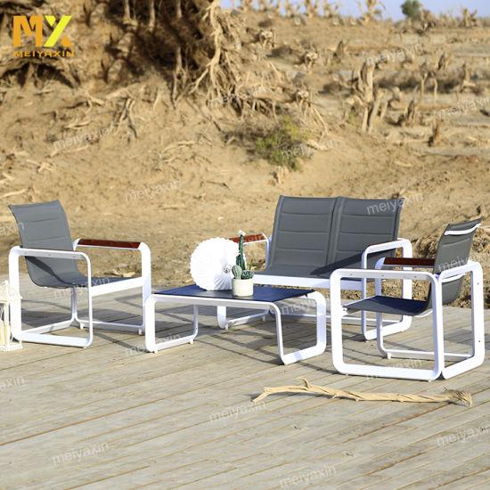 Aluminum Outdoor Garden Sofa with Durable Fabric Seat