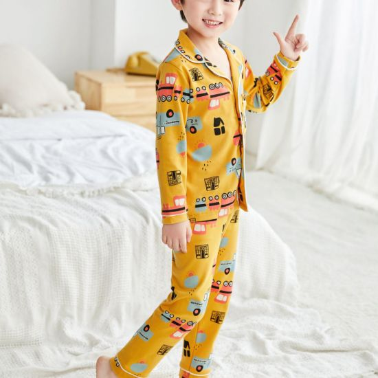Wholesale Baby Autumn and Winter Baby Children's Underwear Set for Girls Boys Cartoon Animal Print Long Sleeve T-Shirt Top Pants Soft Homewear Baby Clothes