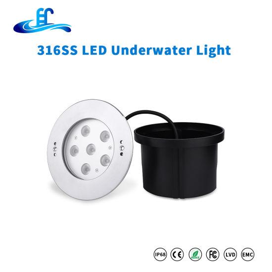 316ss DC12V High Power Recessed LED Swimming Underwater Lighting