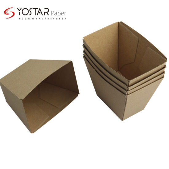 Wholesale French Fries Food Packaging Corrugated Cardboard Paper Box