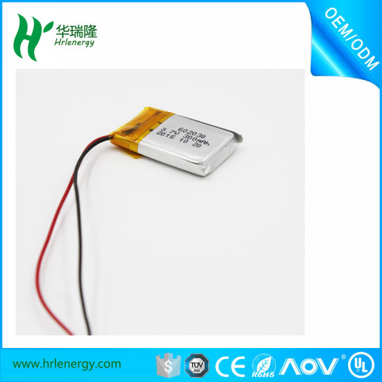 3.7V Lipo Battery 603030 500mAh with PVC pictures & photos