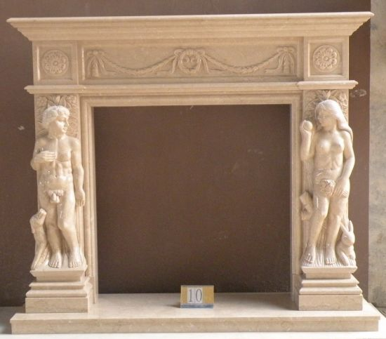 China Luxury White Marble Granite Stone Fireplaces China