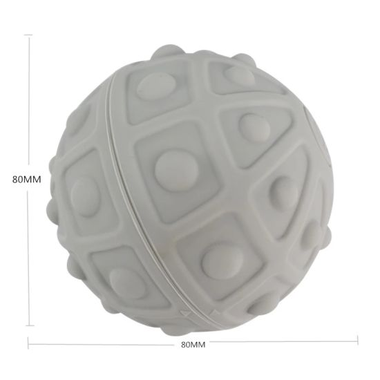 Healthy Soft Touch Electric Vibraing Silicone Rubber Yoga Massager/Massage Ball