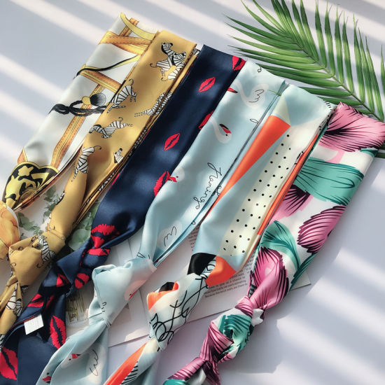 Fashion Silk Twilly Silk Head Ribbon 100% Silk Scarf