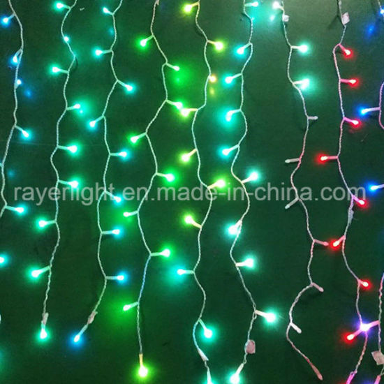New Color Changing Led Curtain String Lights For Christmas Decoration