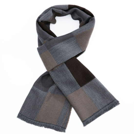 Fashion Winter Knitted Warm Long Poly Woven Men Scarf Neckwear