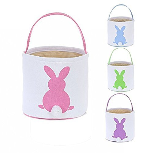 Cotton Canvas Easter Bunny Bag Storage Bags
