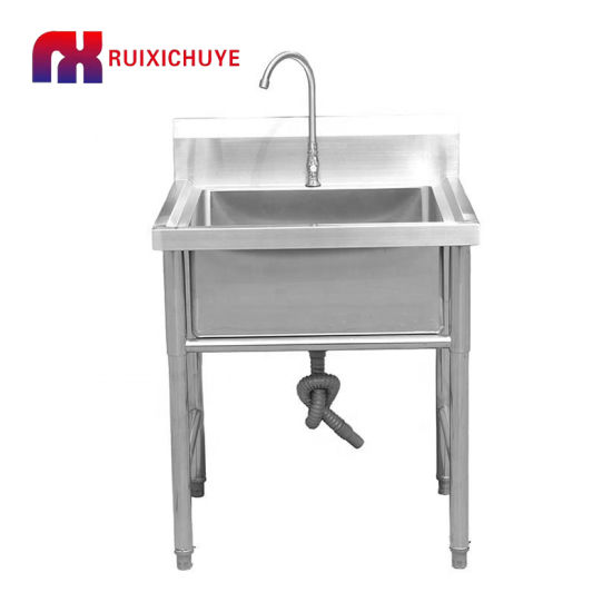 Commercial Free Standing Stainless Steel Sink Kitchen Sink With Right Drainer China Sink Stainless Steel Sink Made In China Com