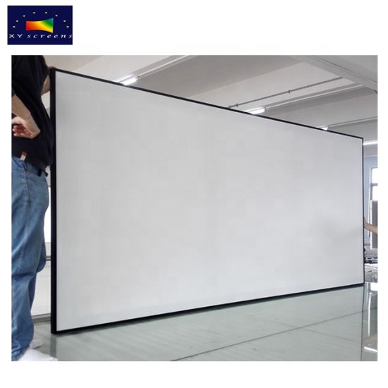 China Best Home Theater Projector 4K Matt White Fabric Projector