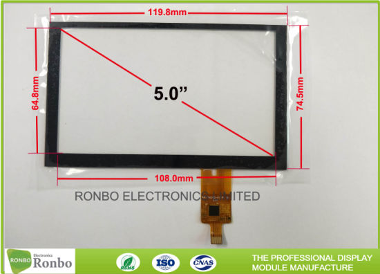 Thin I2c Interface 5 0 Inch 800 X 480 Multipoint Capacitive Touch Panel  Screen