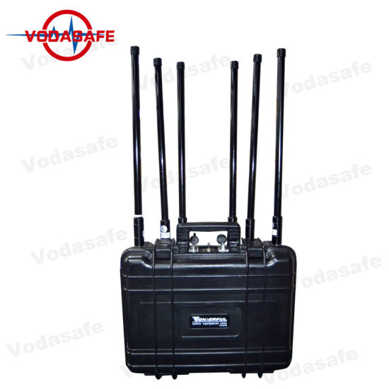 China 6 Antennas Multi-Band Mobile Phone Signal Jammer with 100m