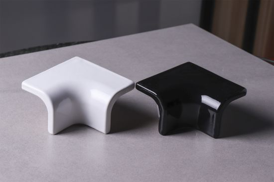 White Black Ceramic Tile Trim Corner Edge Curved Bullnose Tiles Brick Accessories
