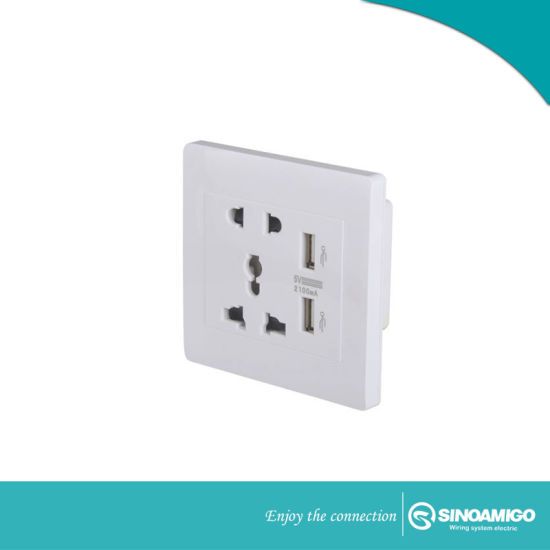 Electrical Wall Switch Socket with Multi USB Charger Outlet