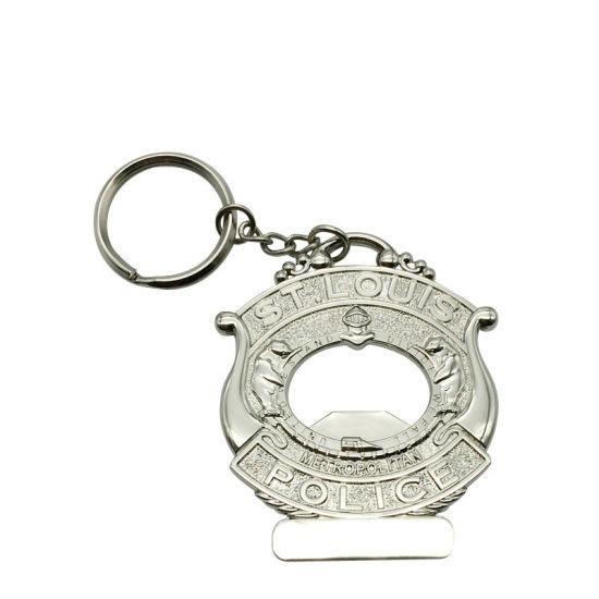 Die Struck Brass Custom Us St  Louis Finest Metal Decoration Gift Metal  Keychain (005)