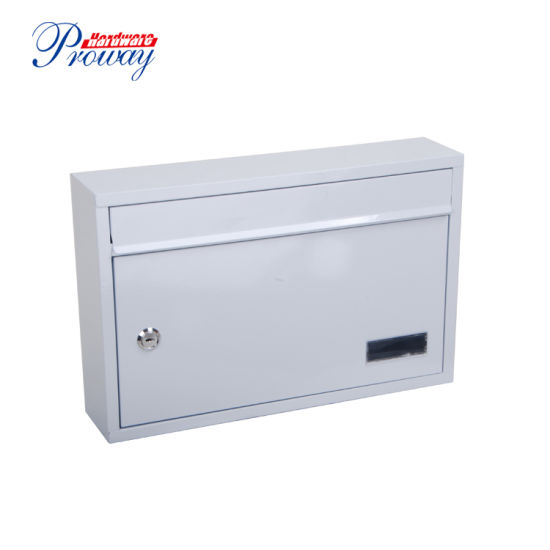 Security Steel Locking Wall Mounted Mailbox Office Drop Box Letter