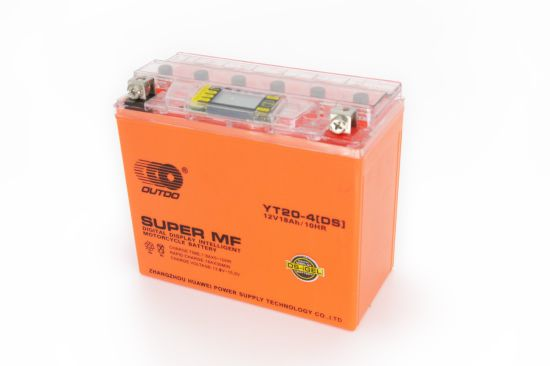 12V 20ah Ytx20-BS Outdo Digital Display Gel Mf Maintenance Free Factory Activated Power Sports High Performance Rechargeable Lead Acid Motorcycle Battery