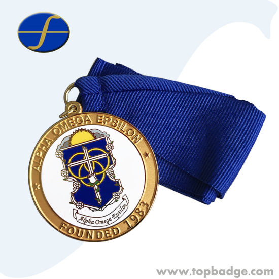 High Quality Synthetic Enamel Metal Medal with Ribbon
