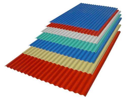 0.14mm 0.18mm Bushan Zinc Coated Corrugated Roof Sheet