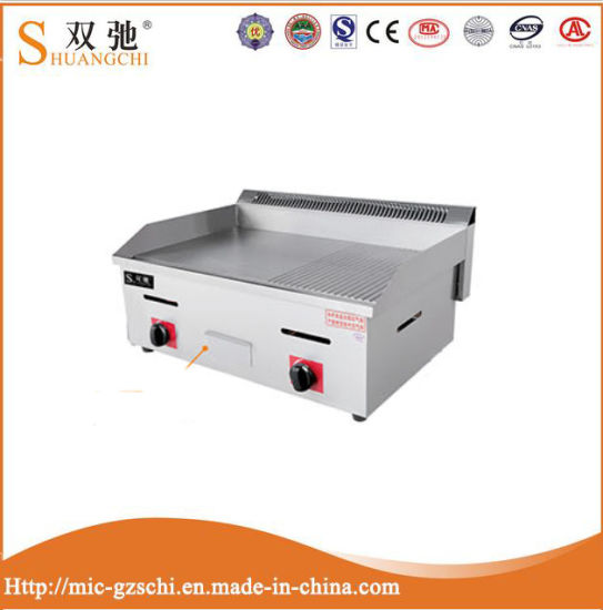 Non Stick Stainless Steel Commercial Gas Griddle 2 in 1 pictures & photos