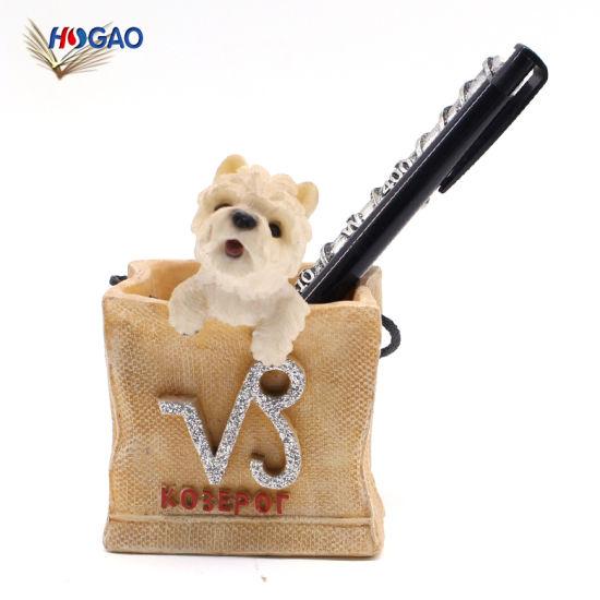 Custom Resin Dog Pen Pencil Holder for Desk Organizer