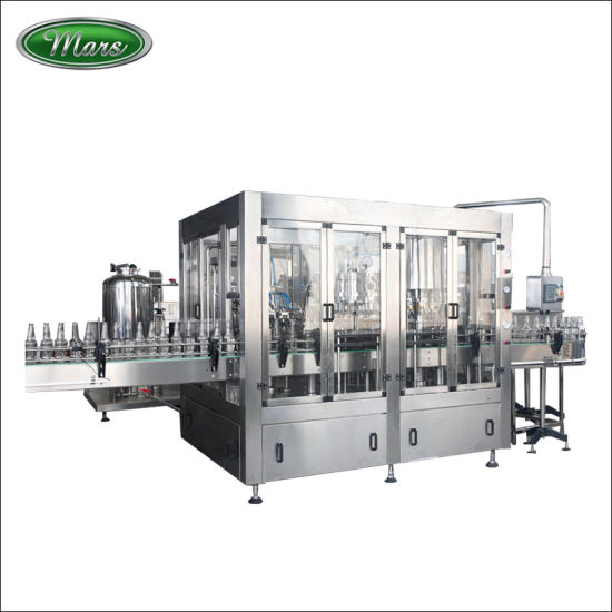 Glass Bottle Soft Drinking Beer Washing Filling Crown Capping Labeling Packing Machine
