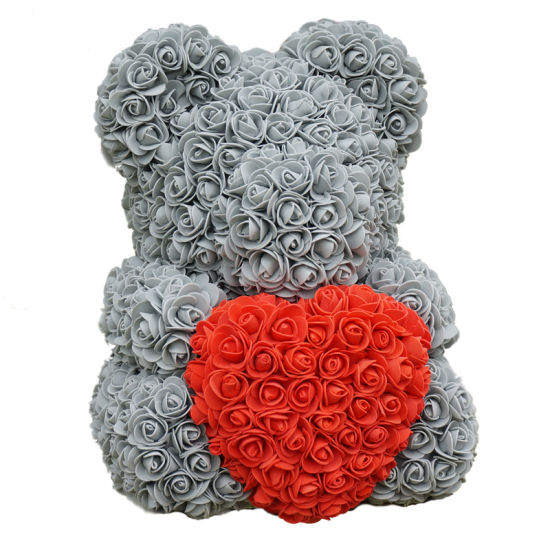 High Quality Valentine′s Day Foam Fake Teddy Rose Flower Bear pictures & photos