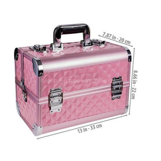 Cosmetic Aluminium Makeup Box With
