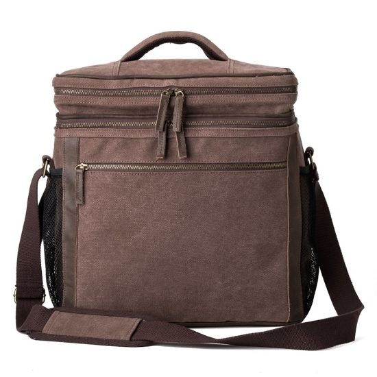 Canvas Insulated Picnic Ice Wine Cooler Lunch Bag