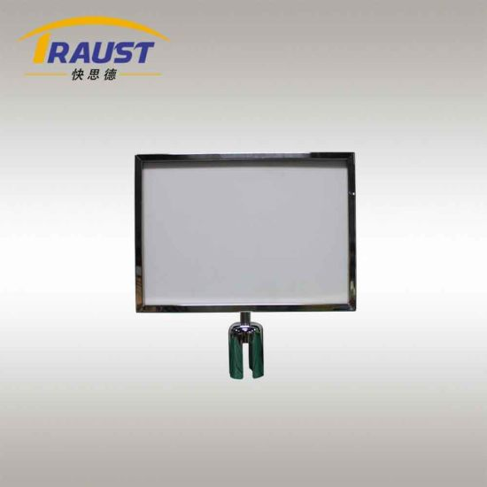 Sign Holder for Retractable Belt Crowd Control Stanshion