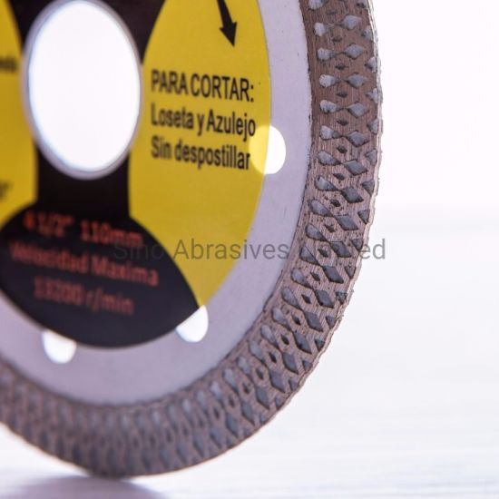 Lazered Turbo Type Dry Diamond Saw Blade for Ceramic Cutting pictures & photos