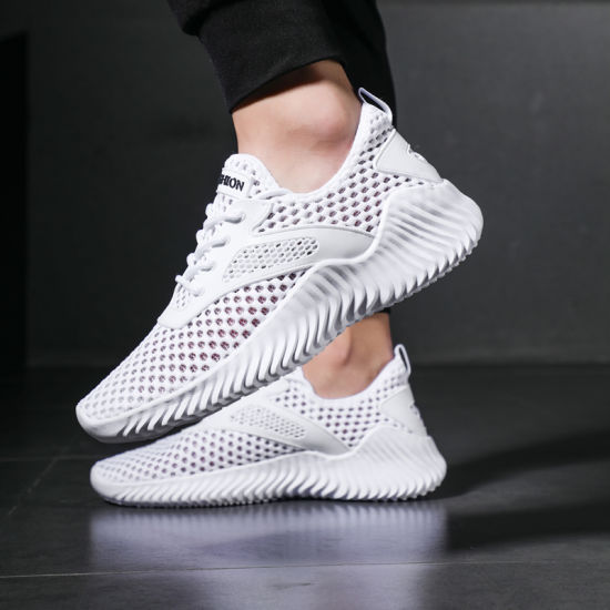 Fashion Sport Shoes for Men, Breathable Casual Wholesale Mens Sneakers Shoes, Custom Logo Men Clear Sneakers Flat Shoes Casual