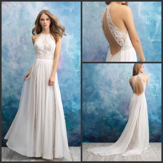 ce82618b73d2 China Boho Beach Bridal Formal Gowns Wholesale Lace Chiffon Wedding ...