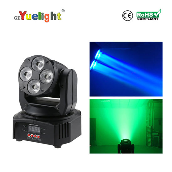 4PCS*10W 4in1 RGBW LED Mini Moving Head Light for Stage